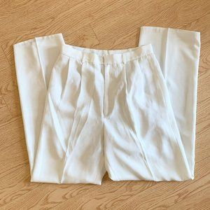 White Cream Wide Leg Trousers Pants Vintage 27